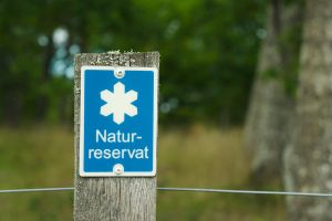 Nature reserve sign by perost
