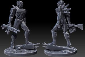 Full Conversion Cyborg Sculpt by tomisaksen