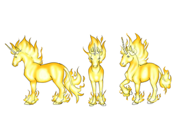 Fire unicorn- design for class by Zaphy1415926