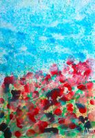 Field of flowers on a sunny day. by M41C0N