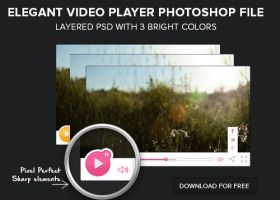 Free Layered PSD of a video player download by eEl886