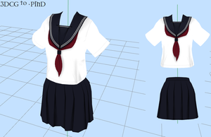 MMD -School Uniform -DOWNLOAD by MMDFakewings18