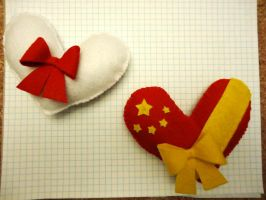 APH Hearts: Japan and China by chococat830