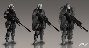Sniper Character Concept by JoanPiqueLlorens