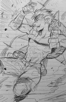 Overwatch - Junkrat - Byro Sketch by mangarainbow