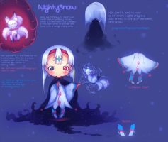 NightySnow - Adoptable {CLOSED} by KingnLionheartAdopts