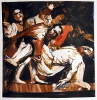 Entombment, after Caravaggio by tombennett