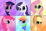 Mane 6 2016 by SlideSwitched