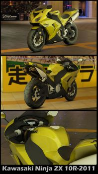 Kawasaki Ninja ZX 10R-2011 model by shukugumo