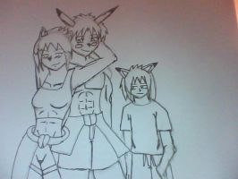 Summer time: Cleo,Tj,and Haku by Hewhouseice