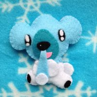 Cubchoo - Mini Pokemon Plush by AmyRosefan4eva