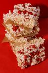 Strawberry Rice Krispie Squares by behindthesofa