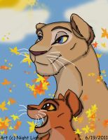 AT:Mother and Daughter by Night-Lion