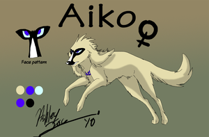 Aiko ref sheet by xAshleyMx