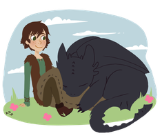 HTTYD - A Boy and His Dragon by Sharezii
