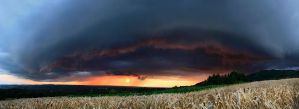 Shelf cloud panorama 22 07 by FlorentCourty