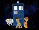 Doctor Whooves and Assitants by pkmnMasterWheeler