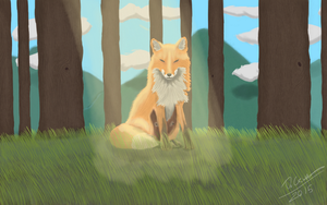 Fox In The Forest by SliverKatanaWings98