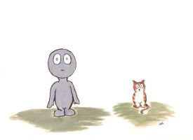 Little Guy with Cat by mixtapegoddess