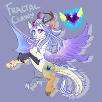 Fractal Claw (Shimmer Bright hatched) by LavvytheJackalope
