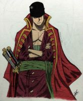 Roronoa Zoro ver. Film Z (colored) by Izham-ZK9