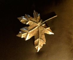 Steel Hand-forged Maple Leaf by HeathenLeFay