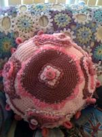 pink paisley couch pillow by lovechairmanmeow