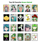AJ's Other Top 20 Favorite Green Haired by ajpokeman