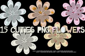 15 Cutie Flowers PNG by JuuustGPB