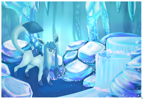 Glaceon. by Rimeku