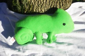 Green Fleece Chameleon Plushie on Etsy by Jesswaveshello