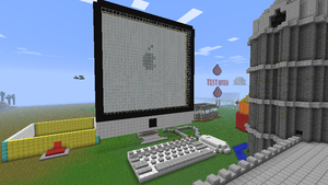 Minecraft Apple Mac computer by AwkwardGamers
