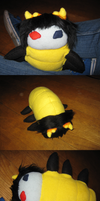 My Sollux wiggler plushie by Kayah-D-Horse-Maiden