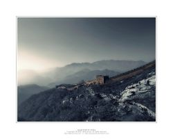 Great Wall of China Beijing by Akkaneerut
