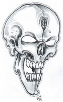 Skull Sketch 09 by vikingtattoo