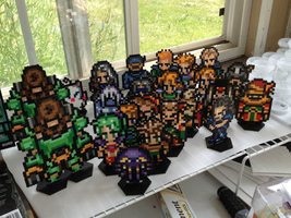 FFVI characters on bases by Jandrem