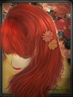My crimson hair by jinifur