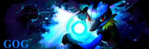Lucario Sig for a friend :3 by BebeKimichi