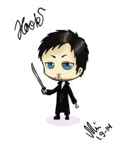 Once Upon a Time Chibified: Captain Hook by NurseRozetta95