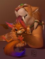 Gnar and Nidalee! by Poisewritik