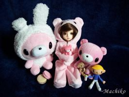 YoSD Gloomy Bear PJs by momoiro-machiko