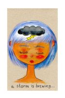 Stormy Thoughts - Veryverystrawberry by childrensillustrator