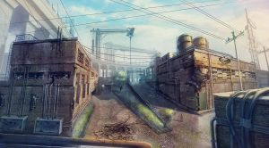 Industrial area concept-art 01 by Pa-Go
