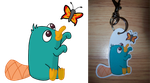 Wanna be Friends? - Perry Keychain by BlueSmudge