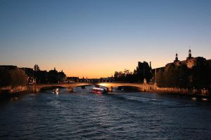 Seine at Sunset, Paris by hachi7