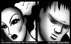 31 Days of Halloween The Couple by ChibiCelina
