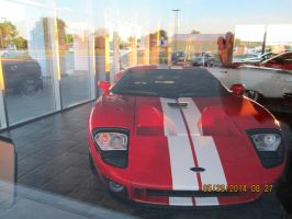 2005 ford GT in the show room by catsvsfox