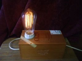 Cigar Box Lamp Style 1 by TheOldRadioShop