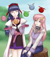GSD x Naruto: Hinata and Lacus by MapleRose