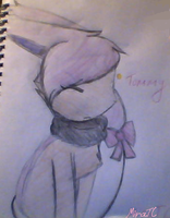 Tommy the Skitty in scketchbook by MiraTC